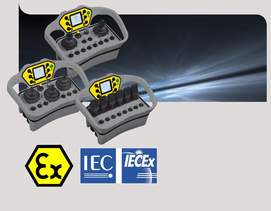 Télécommande Atex - Radiocommande joysticks ATEX IECEx
